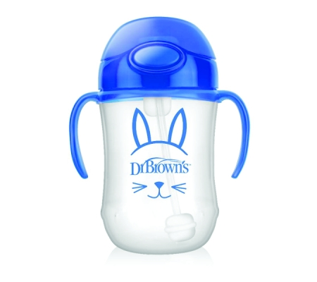 Dr Brown's Baby's First Straw Cup - Blue