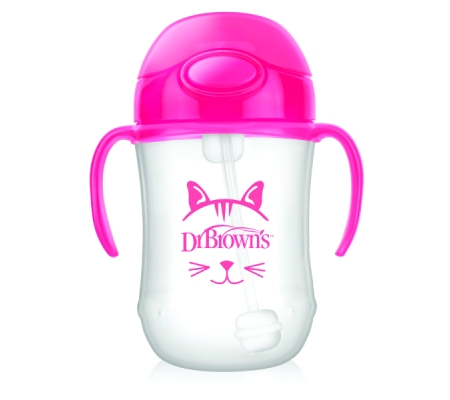 Dr Brown's Baby's First Straw Cup - Pink