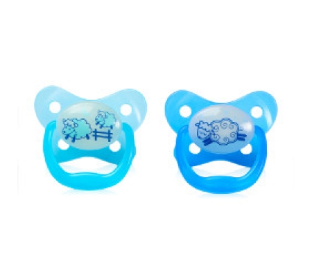 Dr. Brown's PreVent Glow In The Dark Butterfly Shield Pacifier Blue 0-6M 2Pk