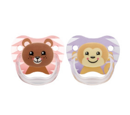Dr. Brown's PreVent Printed Shield Pacifier Pink 6-12M 2Pk