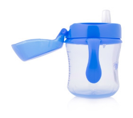 Dr. Brown's Soft Spout Transition Cup with Handles Blue 6M+ 180ml