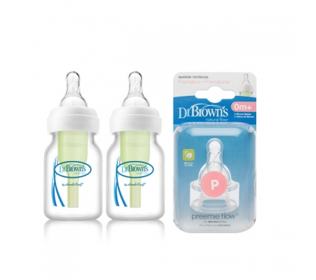 Dr Brown's Options Preemie Bottle Set 60ml Bundle