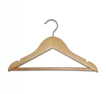 Sirocco Kids Natural Wooden Hangers (set of 5)