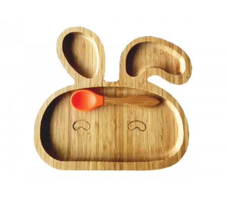 Kiddies & Co Bunny Bamboo Plate - Orange