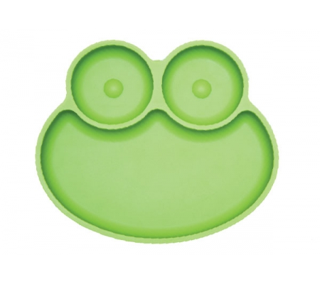 Kiddies & Co Frog Silicone Plate - Green