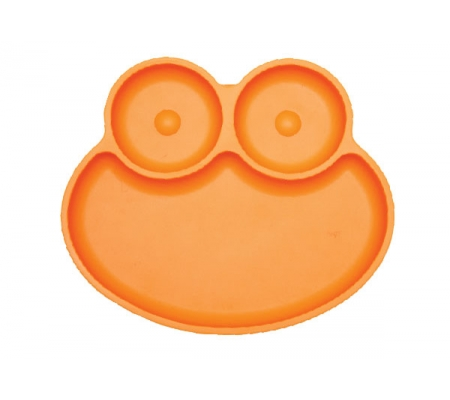Kiddies & Co Frog Silicone Plate - Orange