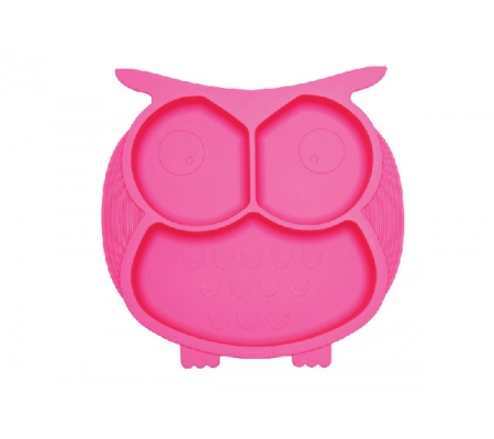 Kiddies & Co Owl Silicone Plate - Pink