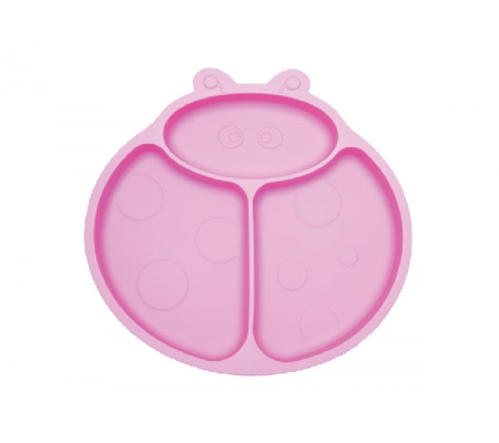Kiddies & Co Ladybird Silicone Plate - Pink