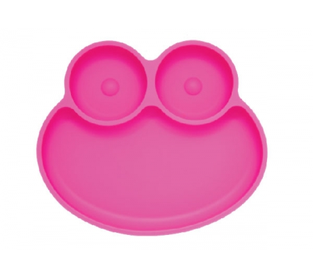 Kiddies & Co Frog Silicone Plate - Pink