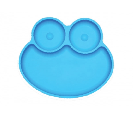 Kiddies & Co Frog Silicone Plate - Blue