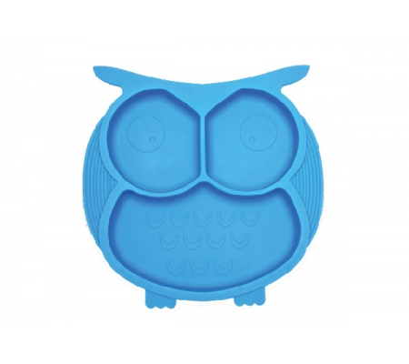 Kiddies & Co Owl Silicone Plate - Blue