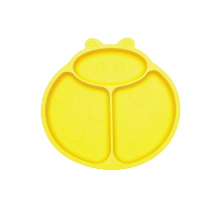 Kiddies & Co Ladybird Silicone Plate - Yellow