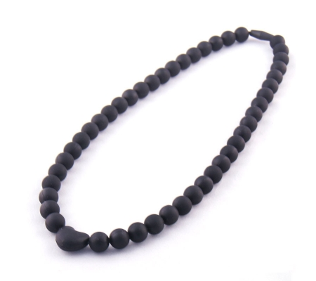 Koo-di Heart Teether Necklace - Black