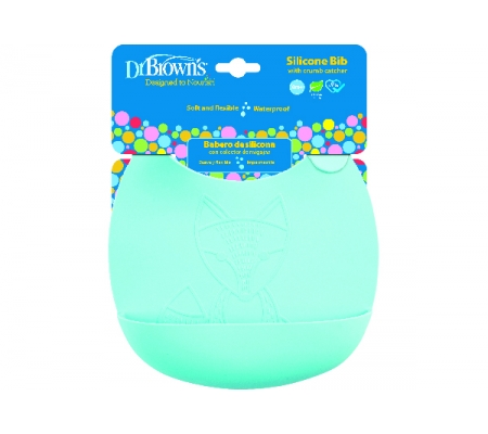 Dr Brown's Silicone Bib - Turquoise