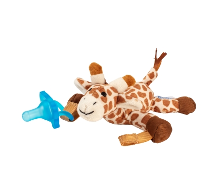 Dr Brown's Giraffe Lovey w/ Blue One - Piece Pacifier