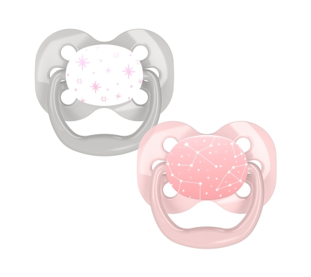 Dr Brown's Advantage Pacifier - Stage 1 Pink 0-6m 2PK