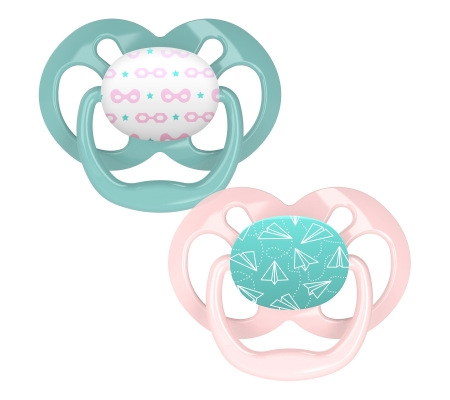 Dr Brown's Advantage Pacifier - Stage 2 Pink 6-18M 2PK