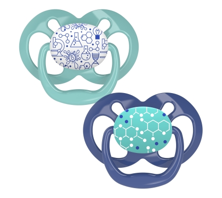 Dr Brown's Advantage Pacifier - Stage 2 Blue 6-18M 2PK
