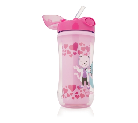 Dr. Brown's 300ml Insulated Straw Cup - Pink