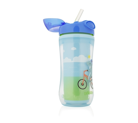 Dr. Brown's 300ml Insulated Straw Cup - Blue