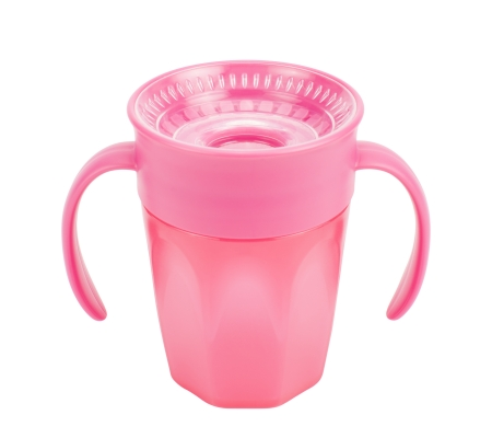 Dr. Brown's Cheers 360 Cup with Handles 200ml - Pink