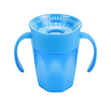 Dr. Brown's Cheers 360 Cup with Handles 200ml - Blue