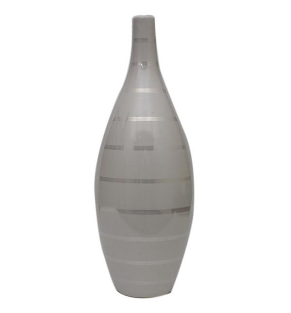 Sirocco White Ceramic Vase