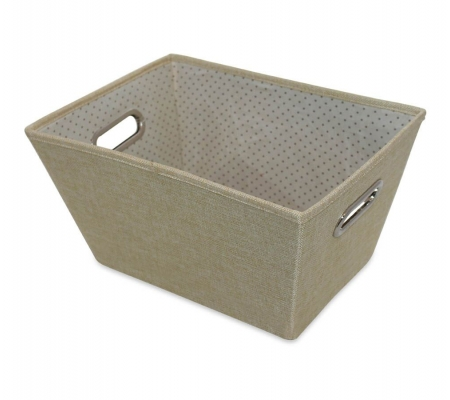 Sirocco Cafe Cream Weave Storage Tote -  Small