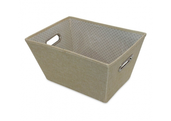 Sirocco Cafe Cream Weave Storage Tote - Large