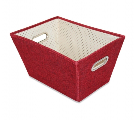 Sirocco Red Weave Storage Tote -  Small