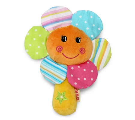 Ibb Sunflower Rattle Toy