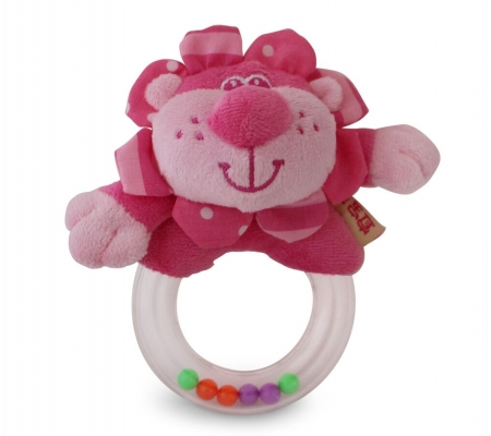 Ibb Pink Lion Rattle