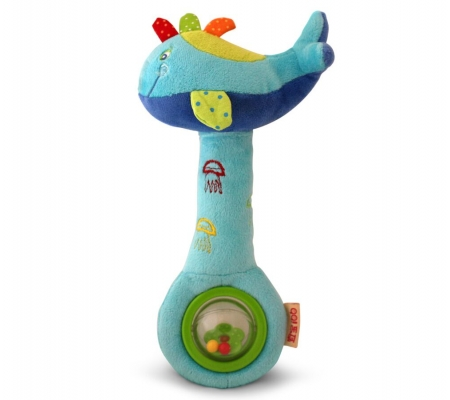 Ibb Whale Rattle and Squeaker Toy