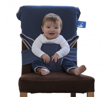 Totseat Denim Feeding Harness